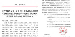 西安财经大学多个项目入选陕西省课程思政示范项目