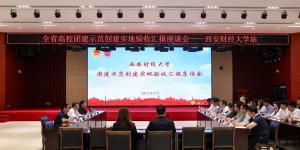 全省首批高校团建示范创建工作组到西安财经大学开展实地验收工作