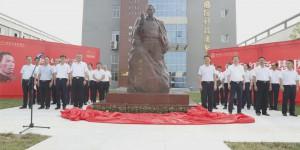 吴运铎雕像落户陕西国防工业职业技术学院