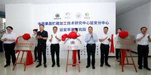 中国果蔬贮藏加工技术研究中心延安分中心、延安苹果研究院成立