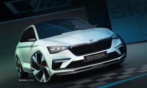 斯柯达VISION RS预告图发布 巴黎车展首