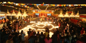 西安年·最中国 广仁寺点亮万盏新春祈福灯