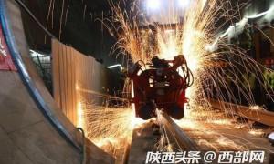 """好消息!西安地铁5号线一期工程全线""""轨通"""""""