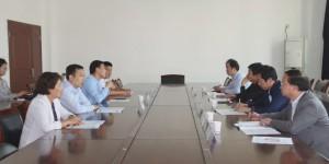 洛南县职教中心领导一行来访西安海棠职业学院洽谈合作办学事宜