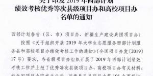 """西安欧亚学院荣获2019年""""全国西部计划优秀高校项目办""""称号"""