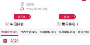 2020软科中国大学排名榜出炉:西安翻译学院位列陕西民办高校第一
