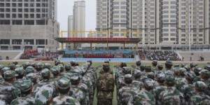 延安职业技术学院举行开学典礼暨新生军训总结大会
