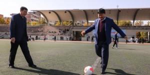 西安工程大学与临潼区教育局举办体育共建活动
