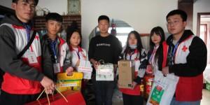 陕能院红十字志愿服务项目团队在铜川王石凹煤矿开展儿童关爱活动