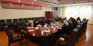 石狮市人社局局长邱雪亮一行到访西安工程大学交流